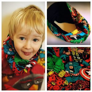 Super hero kids snood