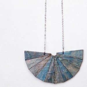 Wooden Necklace Multicolour