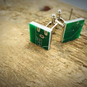 Novelty Circuit board cufflinks